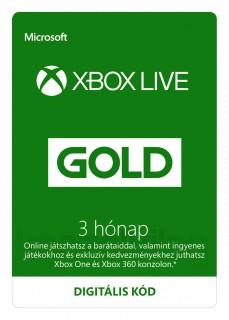 3 hónapos Xbox LIVE Gold előfizetés (Letölthető) MULTI