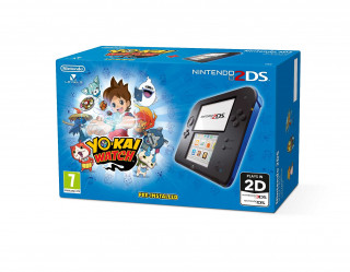 Nintendo 2DS (Black and Blue) + YO-KAI WATCH 3DS