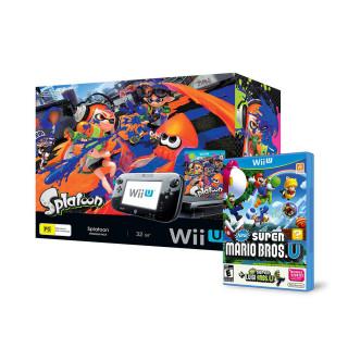 Nintendo Wii U Premium (Fekete) + Splatoon + Super Mario + Luigi
