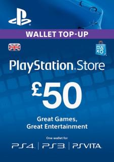 PSN Network kártya 50 Font (PSN Network Card - UK) PS3