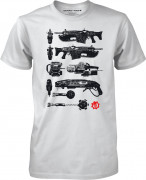 Gears of War 4 Gun Tower White - Póló - Good Loot (M-es méret) AJÁNDÉKTÁRGY