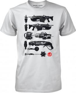 Gears of War 4 Gun Tower White - Póló - Good Loot (XL-es méret) AJÁNDÉKTÁRGY