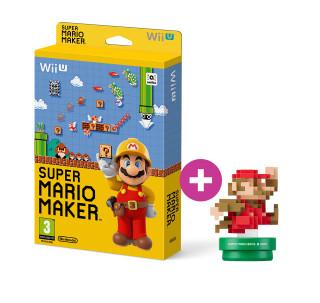 Super Mario Maker + 30th Anniversary Mario Amiibo (Classic) WII U