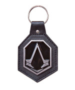 Assassin's Creed Syndicate Metal Logo Leather Keychain - Kulcstartó - Good Loot AJÁNDÉKTÁRGY