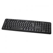 Hama 53930 Billentyűzet VERANO Fekete USB PC
