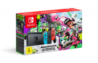Nintendo Switch (neon kék – neon piros) + Splatoon 2 Switch