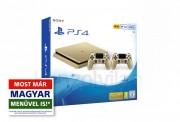 PlayStation 4 Slim (PS4) 500 GB Arany két kontrollerrel (Limitált kiadás) PS4