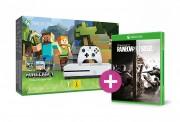 Xbox One S 500GB + Minecraft + Rainbow Six Siege + ajándék XBOX ONE