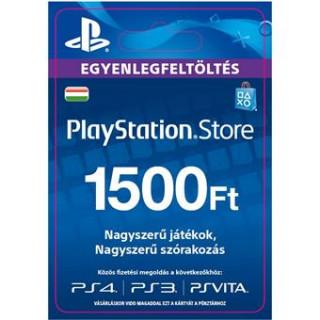 PlayStation Store ajándékkártya 1500 HUF (PS Store Card - HU) (DIGITÁLIS)