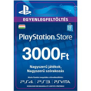 PlayStation Store ajándékkártya 3000 HUF (PS Store Card - HU) (DIGITÁLIS)