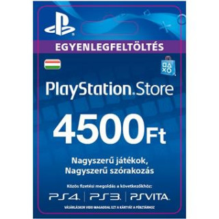 PlayStation Store ajándékkártya 4500 HUF (PS Store Card - HU) (DIGITÁLIS)