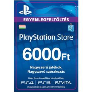 PSN Network kártya 6000 HUF (PSN Network Card - HU) (DIGITÁLIS) (Letölthető) PS4