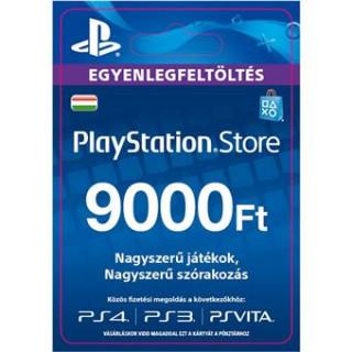PSN Network kártya 9000 HUF (PSN Network Card - HU) (DIGITÁLIS) PS4