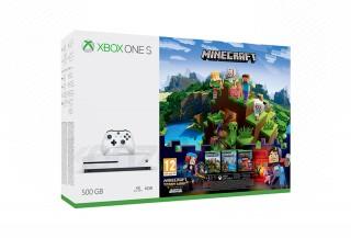 Xbox One S 500GB + Minecraft + Minecraft Story Mode + 3 hónapos Live Gold tagság XBOX ONE