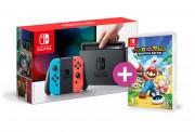 Nintendo Switch (Red-Blue) + Mario + Rabbids Kingdom Battle Switch