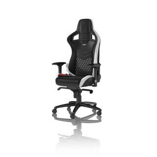 Noblechairs EPIC Gamer Szék Fekete/Fehér/Piros Bőr (NBL-RL-EPC-001) PC