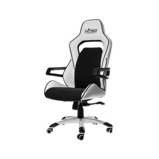 Nitro Concepts E220 Evo Fehér-Fekete Gamer Szék (NC-E220E-WB)