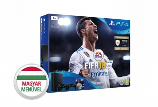 PlayStation 4 (PS4) Slim 1TB + FIFA 18 + Dualshock 4 kontroller (fekete) PS4