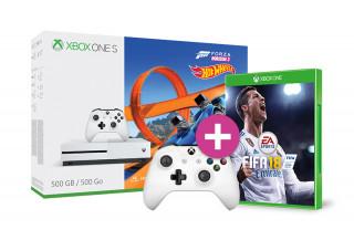 Xbox One S 500GB + Forza Horizon 3 + Hot Wheels DLC + Kontroller + FIFA 18 XBOX ONE