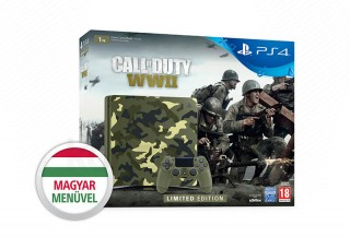 PlayStation 4 (PS4) Slim 1TB + Call of Duty WWII (Limitált kiadás) PS4