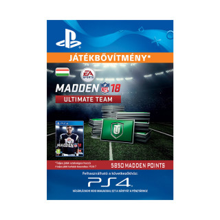 5850 Madden NFL 18 Ultimate Team Points - ESD HUN (Letölthető) PS4