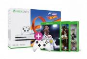 Xbox One S 500GB + Forza Horizon 3 + Hot Wheels DLC + Kontroller + FIFA 18 + Wildlands + For Honor XBOX ONE