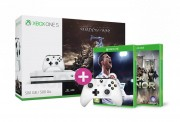 Xbox One S 500GB + Middle-Earth: Shadow of War + For Honor + FIFA 18 + Kontroller XBOX ONE