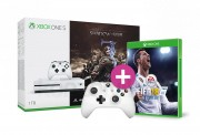 Xbox One S 1TB + Middle-Earth Shadow of War + Kontroller + FIFA 18 XBOX ONE