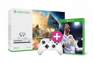 Xbox One S 500GB + Assassin's Creed Origins + kontroller + FIFA 18 XBOX ONE