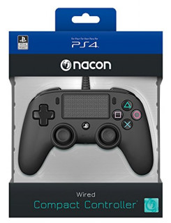 Playstation 4 (PS4) Nacon Wired Compact Kontroller (Fekete)