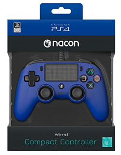 Playstation 4 (PS4) Wired Compact Kontroller Kék (Nacon) PS4