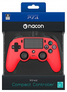 Playstation 4 (PS4) Nacon Wired Compact Kontroller (Piros) PS4