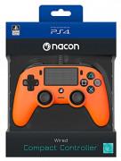 Playstation 4 (PS4) Nacon Wired Compact Kontroller (Narancs) PS4