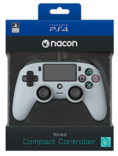 Playstation 4 (PS4) Nacon Wired Compact Kontroller (Szürke) PS4