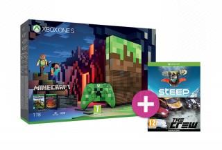 Xbox One S 1TB Limited Edition + Minecraft + ajándék Steep + The Crew XBOX ONE