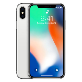 Apple iPhone X 64GB Silver Mobil