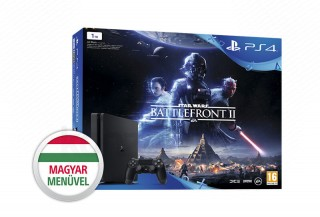 PlayStation 4 Slim 1TB + Star Wars Battlefront II (fekete) PS4