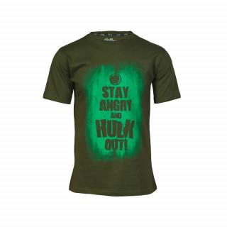 Marvel Avas Hulk Slogan póló (M-es méret) AJÁNDÉKTÁRGY
