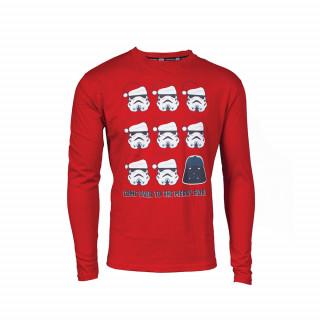 Star Wars Merry X-mas hosszú ujjú póló (M-es méret) AJÁNDÉKTÁRGY
