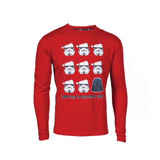 Star Wars Merry X-mas hosszú ujjú póló (M-es méret) Ajándéktárgyak