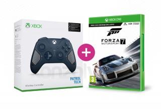Xbox One Vezeték nélküli Kontroller (Patrol Tech) + Forza Motorsport 7 XBOX ONE