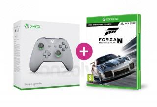 Xbox One Vezeték nélküli Kontroller (Szürke/Zöld) + Forza Motorsport 7 XBOX ONE