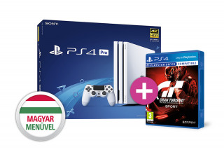 PlayStation 4 Pro (PS4) 1TB Glacier White (fehér) + Gran Turismo Sport PS4