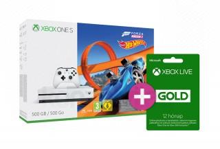 Xbox One S 500GB + Forza Horizon 3 + Hot Wheels DLC + 12 hónapos LIVE Gold tagság XBOX ONE