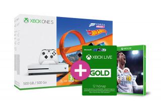 Xbox One S 500GB + Forza Horizon 3 + Hot Wheels DLC + 12 hónapos LIVE Gold + FIFA 18 XBOX ONE