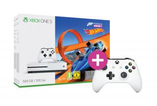 Xbox One S 500GB + Forza Horizon 3 + Hot Wheels DLC + kontroller XBOX ONE