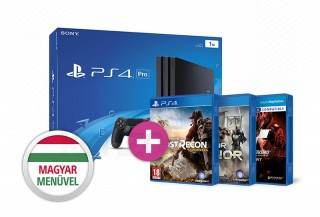 PlayStation 4 Pro (PS4) 1TB + Ghost Recon Wildlands + For Honor + Gran Turismo Sport PS4