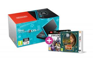 New Nintendo 2DS XL (Black-Turquoise) + Fire Emblem Warriors + Layton's MJ 3DS