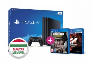 PlayStation 4 Pro (PS4) 1TB + Gran Turismo Sport + Call of Duty WWII PS4