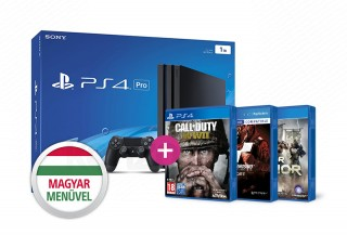 PlayStation 4 Pro (PS4) 1TB + For Honor + Gran Turismo Sport + Call of Duty WWII PS4